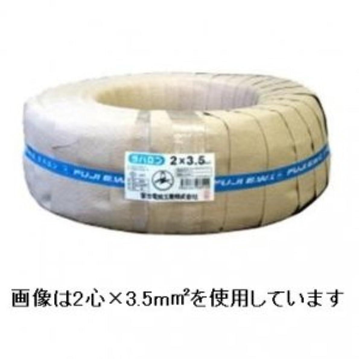 バランスのとれたわかりやすいによると富士電線 ラバロンVCT 600V ソフトビニルキャブタイヤ丸形ケーブル 2心 5.5m㎡ 100m巻き ラバロンVCT5.5×2C×100m