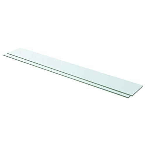 vidaXL 2X Regalboden Glas Glasboden Glasscheibe Glasplatte Regalbrett Ersatz Platte Glasscheibe für Glasregal Klarglas Transparent 110x15cm