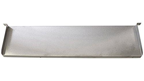 HEISSNER W286-00 Überlaufkante Edelstahl 60 cm breite, 12 cm tiefe inklusive LED Beleuchtung