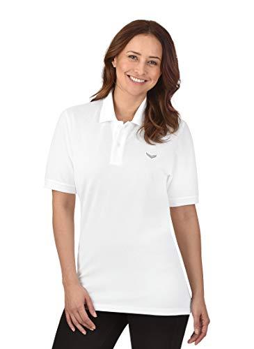 Trigema Damen Polo-Shirt Deluxe Piqué Poloshirt, Weiß (weiß 001), 48 (Herstellergröße: XL)