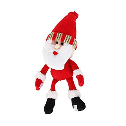 MOHAN88 Decoraciones navideñas Lindo muñeco de Nieve de Papá Noel con Cubierta de Vino Tinto Cubierta de Botella de Vino Duradera Lavable - Papá Noel
