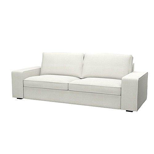 Soferia - IKEA KIVIK Funda para sofá Cama de 3 plazas, Elegance Ecru