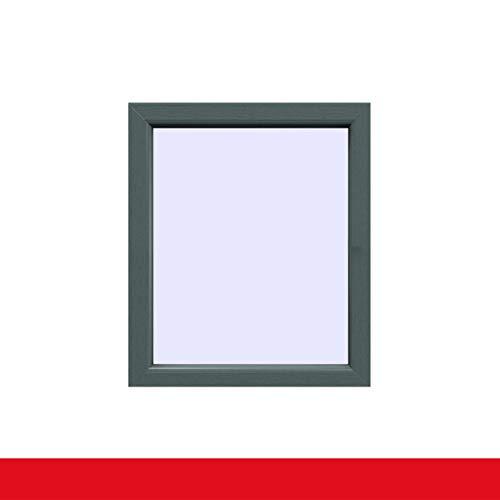 Festverglasung einflügeliges Fenster | Außen Basaltgrau Innen Weiß