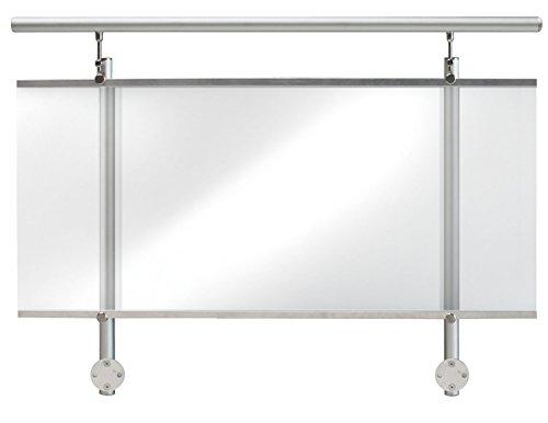 TREBA / FREWA Alu Geländerset mit Acrylglas Klar, Seitliche Montage, 1 Stück, 130.08.0110 AF1