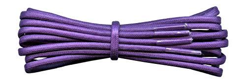 Fabmania Runde 3 mm gewachste Baumwollschnürsenkel - lila - Länge 90 cm