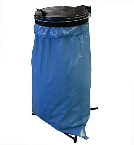 QUICK STAR Müllsackständer inkl 25 Müllsäcken 120 Liter Stahlblech Gelber-Sack Ständer Müllbeutelhalter Müllsackhalter Abfallbehälter