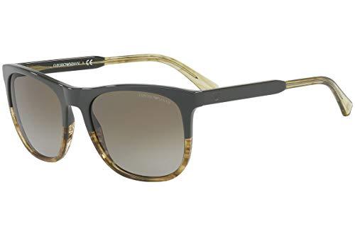 Emporio Armani EA4099 Sonnenbrille Militär Braungestreiftes Mit Braunem Verlaufsglas Gläsern 557113 EA 4099