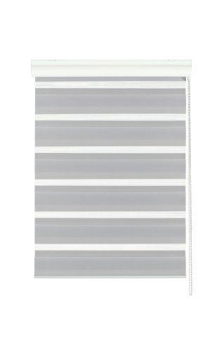 Gardinia 30185 Doppelrollo mit Aluminumkassette, 60 x 160 cm, grau