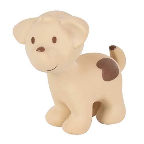 Tikiri 95006 Baby Rassel Greifling aus Naturkautschuk verschiedene Bauernhoftiere Bauernhoftiere Hund