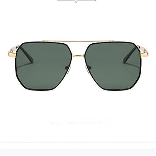 N/A Gafas de Sol para Hombre Gafas de Sol para Mujer Gafas de Sol polarizadas cuadradas Nuevas para Hombre Gafas de Sol Verde Oscuro metálicas Gafas de Sol TAC