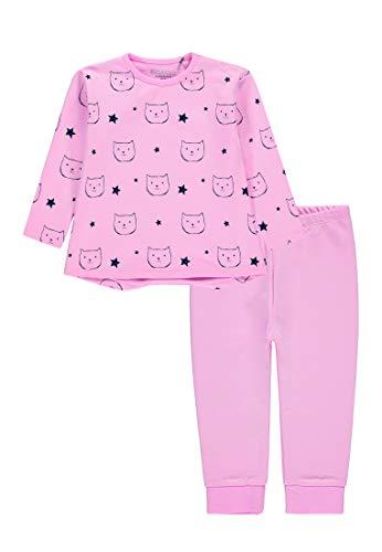 bellybutton Mädchen Schlafanzug 1/1 Arm 2 teilig pink Mist (Rose) (80)