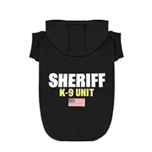 Scheppend Dog Hoodies Sweatshirt Pet Clothes for Small Medium Large Dogs Cats Cotton Puppy Costumes with Sheriff K-9 Unit Patterns Printed, XX-Large