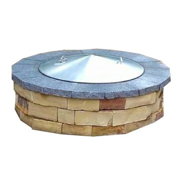 42 Diameter Round Stainless Steel Metal Fire Pit Spark Screen Cover Lid Top