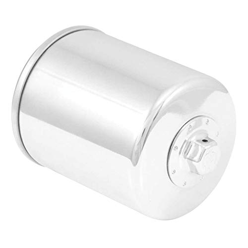 K&N Motorcycle Oil Filter: High Performance Chrome Oil Filter with 17mm nut designed to be used...