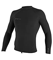 top 10 oneill wetsuit jacket O'Neill Men's Reactor-2 1.5mm L / S Top Wetsuits-Black / Black / Black / Large