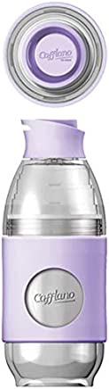 Cafflano Go-Brew, Portable Brewing Bottle, Pour Over Coffee Brewing Set, All-In-One, Beverage Bottle, Eco-Friendly, BPA Free (Lilac)