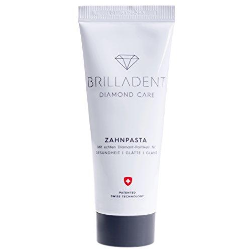 Brilladent Diamant-Zahnpasta | 1 Tube (1 x 75 ml) | Ideal gegen Paradontose, Paradontitis & Zahnstein | schont die Zahnoberflächen | niedriger Abrasionswert | verzögert Plaque | weisse Zähne