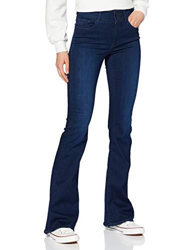 REPLAY NEWLUZ Flare Pantaloni, 007 Blu Scuro, 26W / 32L Donna