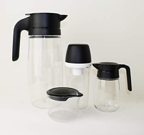 TUPPERWARE TupperTime 1,7L Kanne Saftkanne, Milchkanne + 400ml Zuckerhut groß + 350ml Milchkännchen + 250ml Milch-/Zuckerkännchen + Mini Trichter Lila