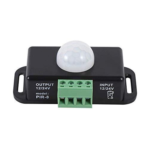 Sensor de Movimiento Interruptor DC 12V / 24V LED Detector De Cuerpo Infrarrojo PIR Interruptores Automáticos De Iluminación Bombillas Dimmer Para Seguridad En El Hogar