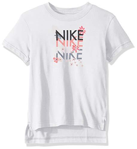 Nike - Fitness-Shirts für Mädchen in White, Größe L