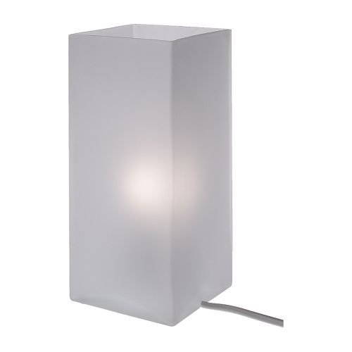 IKEA GRÖNÖ Lampada da tavolo, vetro opalino bianco