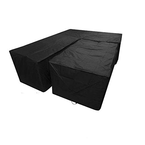 H.aetn Garden Furniture Cover L Shape 215 X 215 X 87cm+outdoor Table Cover S Rectangular 155 X 95 X 68cm, Waterproof Patio Furniture Covers Rain-proof For Tables Sofas Recliners Chairs