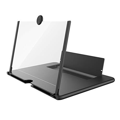 VAILANG Pull Type Amplificador de teléfono Celular 3D HD Pantalla Grande Lupa Soporte para teléfono de Escritorio Negro