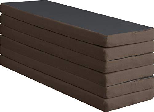 高反発マットレス 六つ折りタイプ 厚さ6cm シングル