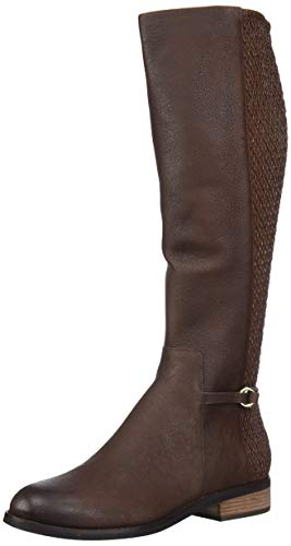 Cole Haan Women's Isabell Stretch Boot Mid Calf, Dark Ch Chestnut Leather, 8.5 B US