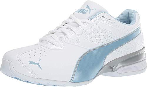 PUMA womens Tazon 6 Fm Sneaker, Puma White-cerulean-puma...