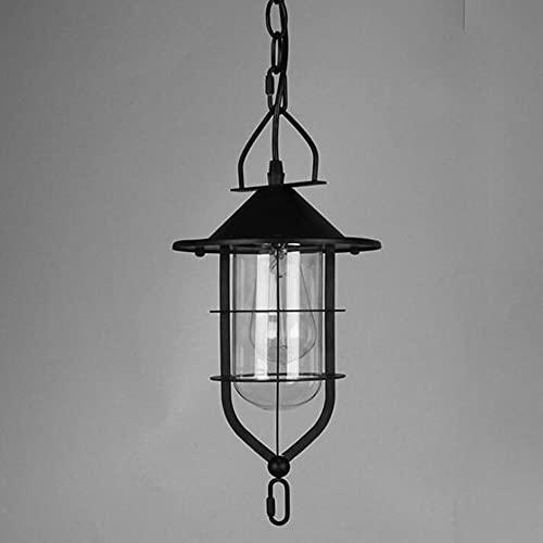 MADBLR7 Candelabro de Viento Industrial LED Lámparas Colgantes Decorativas Restaurante Cocina Isla Comedor Bar Pasillo Iluminación Lámpara Colgante Acabado para Hornear de Metal Negro , E27
