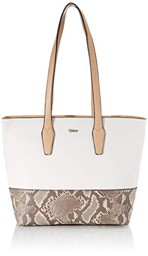 Gabor Shopper Damen, Beige, Andea, 37x12x28 cm, Handtasche groß, Umhängetasche, Snake
