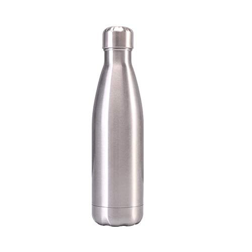 Yidieman Botella de Agua aislada, Acero Inoxidable y Frasco de vacío-500ml Botella de vacío de Acero Inoxidable, Boca estándar, para Deportes al Aire Libre, Fitness, Correr