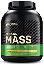 Optimum Nutrition Serious Mass Weight Gainer Protein Powder, Banana, 6 Pound (Packaging May Vary)