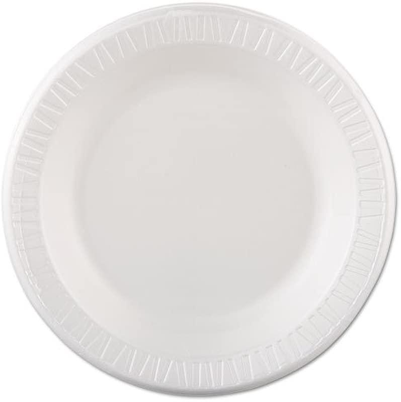 Quiet Classic Foam Plastic White Laminated 10 1 4 In Plate 500 Per Case