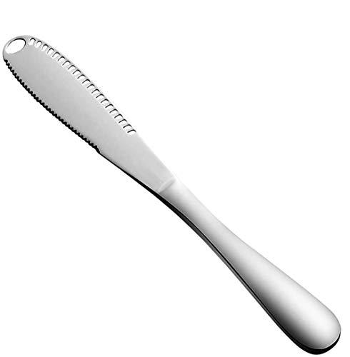 OKA Buttermesser mit Löchern, verdicktes Edelstahl-Messer, 3-in-1 Küchenhelfer