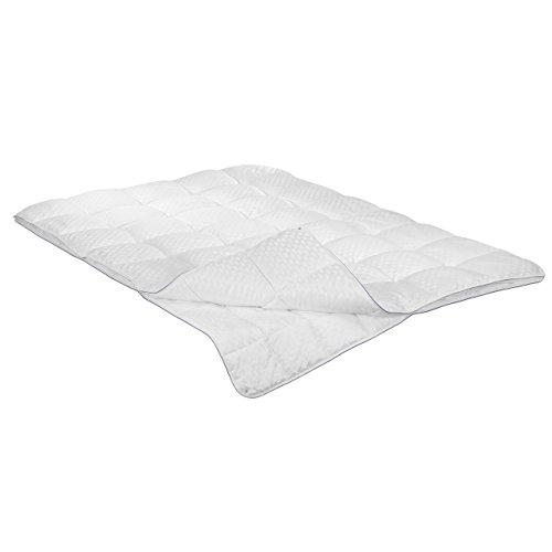 Irisette Vier-Jahreszeiten-Bett Textilfaser weiß Größe 155x220 cm