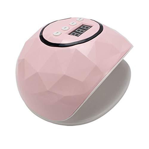 MODRYER LED UV Lámpara del Secador del Clavo del Clavo 86W, Clavo Gel Equipo Esmalte De Uñas Profesional con 4 Temporizador Pantalla LCD Sensor Inteligente, El Uso con El Pulimento,Pink
