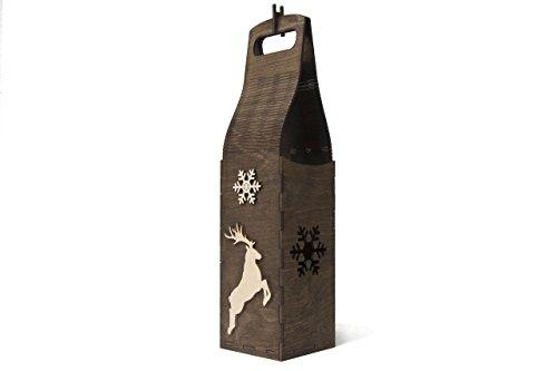 Weihnachtsgeschenk Mitarbeiter - Champagner Box Geschenk - Wein Box - Weihnachtsgeschenk Chef - Geschenk Box Champagner - Weihnachten Hirsch Geschenk - Weihnachten Hirsch Holz
