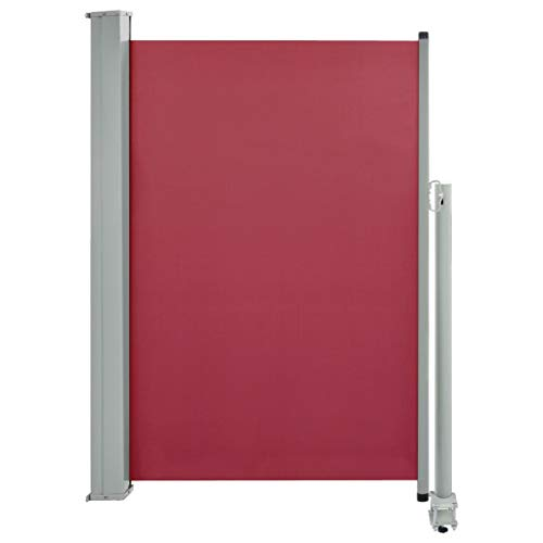Tidyard Tenda Da Sole Laterale Retrattile Per Patio Marrone/Rosso,Tenda Da Sole Per Esterno,Tenda Da Sole Laterale,Tenda Da Sole Da Balcone,Tenda Da Sole Avvolgibile 120X300 Cm