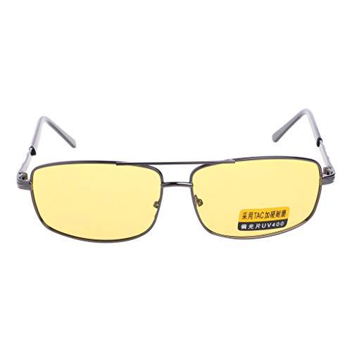 Qianqian56 Geel Zonnebril Lens Gepolariseerde Nachtzicht Rijden UV 400 Oogkleding Bril GRT