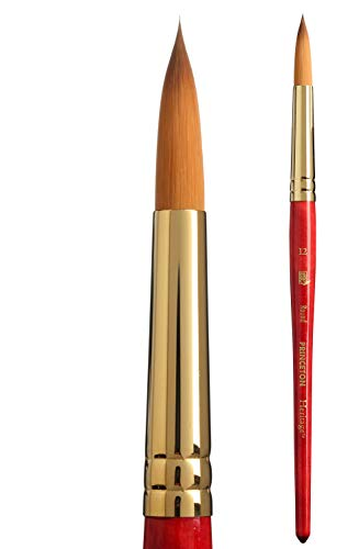 Princeton Heritage Series 4050 Synthetic Sable Round Watercolor Brush, Size 12