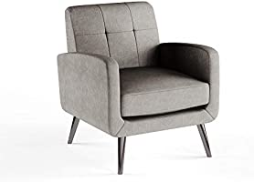 A to Z Furniture - Keflavik Mid-century Arm Chair in Grey Color