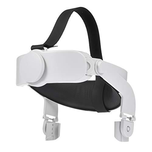 Zhangjie Oculus Quest 2 VR Headset Headwear Headband Head Strap,Virtual Reality Glasses Silicone Case, Anti-Sweat, Anti-Leak, Light