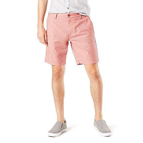 Dockers Men's Straight Fit Supreme Flex Ultimate Short, Montara Apple Flower, 33W