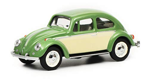 Schuco 452016800 VW Käfer, grün/beige 1:64 452016800-VW, Modellauto, Modellfahrzeug
