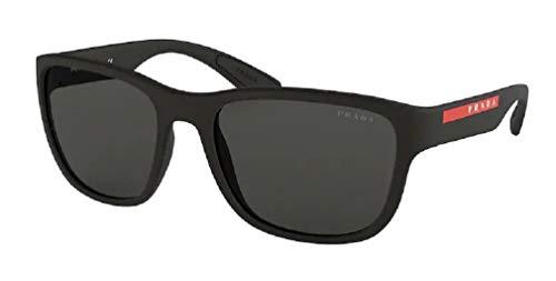 Prada PS01US ACTIVE DG05S0 59M Black Rubber/Grey Pillow Sunglasses For Men For Women+FREE Complimentary Eyewear Care Kit