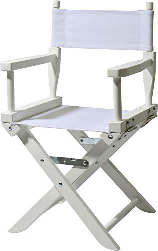 dobar Mini Chaise Longue en hêtre Massif Pliable pour Enfant intérieur et extérieur Weiß