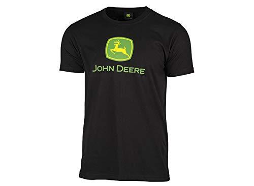 John Deere T-Shirt mit Classic-Logo Schwarz (L)